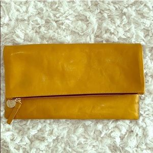 Clare V Leather Fold Over Clutch
